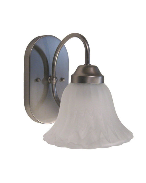 Rainbow Lighting S1880-01 SN One Light Bath Wall Fixture in Satin Nickel Finish