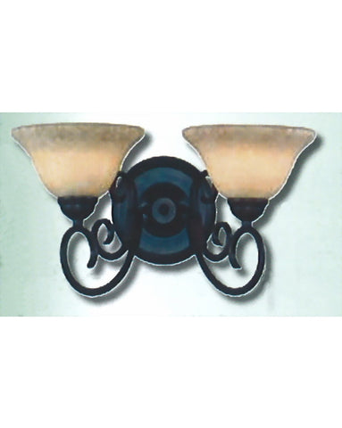 Epiphany Lighting 103602 ORB Two Light Bath Wall Fixture in Oil Rubbed Bronze Finish