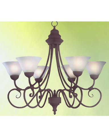 Epiphany Lighting 100316 CS Six Light Chandelier in Cobblestone Finish - Quality Discount Lighting
