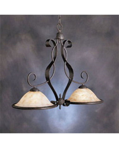 Kichler Lighting 10770 Two Light Island Hanging Pendant in Olde Iron Finish - Quality Discount Lighting