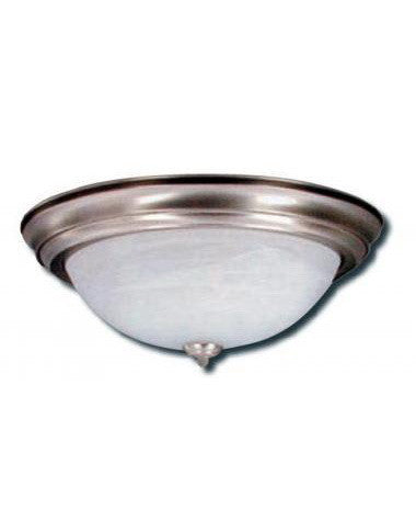 Epiphany Lighting GU104432-39 BN Three Light Energy Efficient Fluorescent Flush Ceiling Fixture in Brushed Nickel Finish