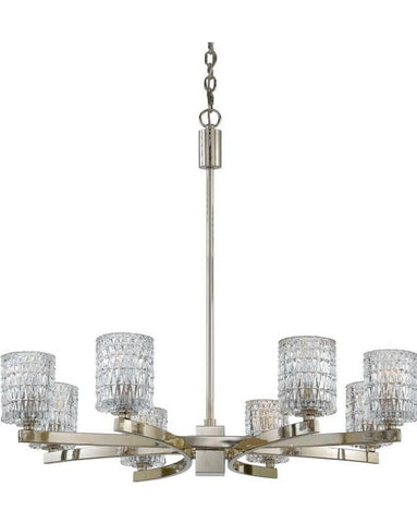 Quoizel Lighting RAN5008 IS Annalie Collection Eight Light Chandelier in Imperial Silver Finish - Quality Discount Lighting