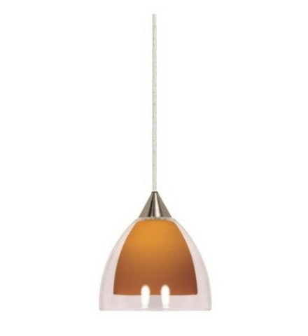 Nuvo Lighting 60-659 One Light Mini Pendant in Brushed Nickel Finish - Quality Discount Lighting