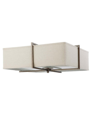 Nuvo Lighting 60-4069 Logan Square Collection Four Light Energy Star Efficient Fluorescent GU24 Flush Ceiling Mount in Hazel Bronze Finish - Quality Discount Lighting