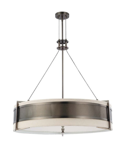 Nuvo Lighting 60-4034 Diesel Collection Six Light Energy Star Efficient Fluorescent GU24 Pendant Chandelier in Hazel Bronze Finish - Quality Discount Lighting