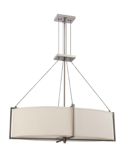 Nuvo Lighting 60-4045 Portia Collection Oval Four Light Energy Star Efficient Fluorescent GU24 Chandelier in Hazel Bronze Finish - Quality Discount Lighting