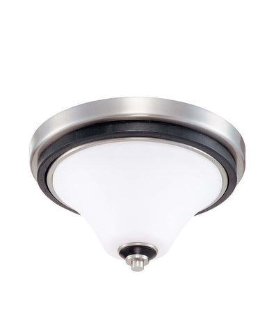 Nuvo Lighting 60-2457 Keen Collection One Light Energy Star Efficient Fluorescent GU24 Flush Ceiling Mount in Brushed Nickel Finish
