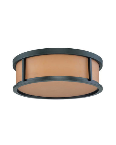 Nuvo Lighting 60-3832 Odeon Collection Three Light Energy Star Efficient Fluorescent GU24 Flush Ceiling Mount in Aged Bronze Finish - Quality Discount Lighting