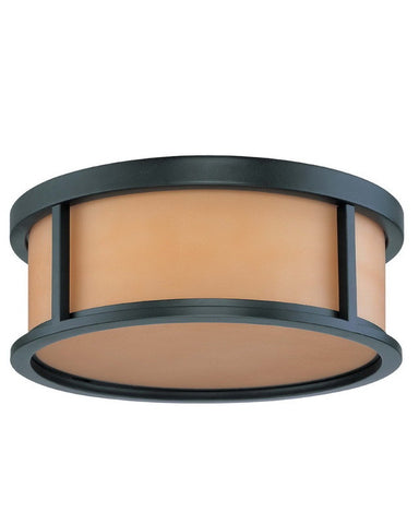 Nuvo Lighting 60-3833 Odeon Collection Three Light Energy Star Efficient Fluorescent GU24 Flush Ceiling Mount in Aged Bronze Finish - Quality Discount Lighting