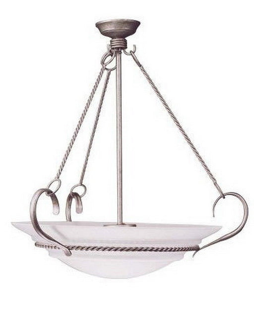 Leadco Lighting 1465 VS Six Light Pendant Chandelier in Vintage Silver Finish - Quality Discount Lighting
