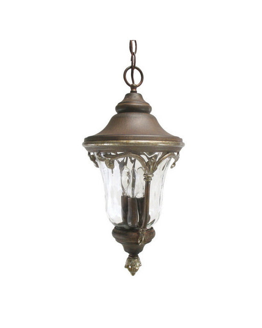 Kalco Lighting 9067 GG Three Light Outdoor Exterior Hanging Lantern in Golden Grain Finish - Quality Discount Lighting