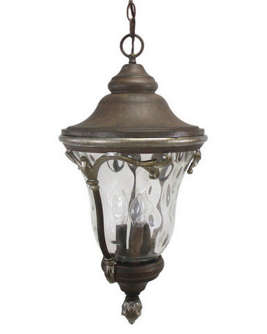 Kalco Lighting 9068 GG Four Light Outdoor Exterior Hanging Lantern in Golden Grain Finish - Quality Discount Lighting