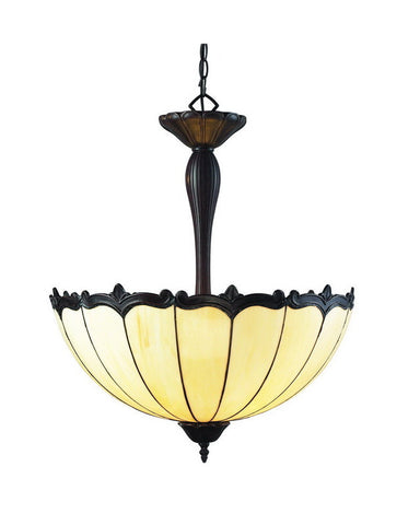 Z-Lite Lighting Z22-39P Three Light Pendant Chandelier in Chestnut Bronze Finish - Quality Discount Lighting
