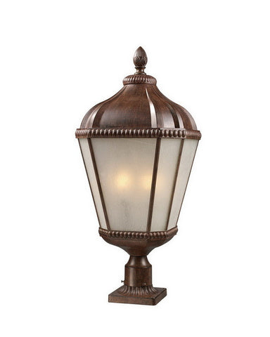 Z-Lite Lighting 513PHB-WB Four Light Outdoor Exterior Post Lantern in Weathered Bronze Finish - Quality Discount Lighting