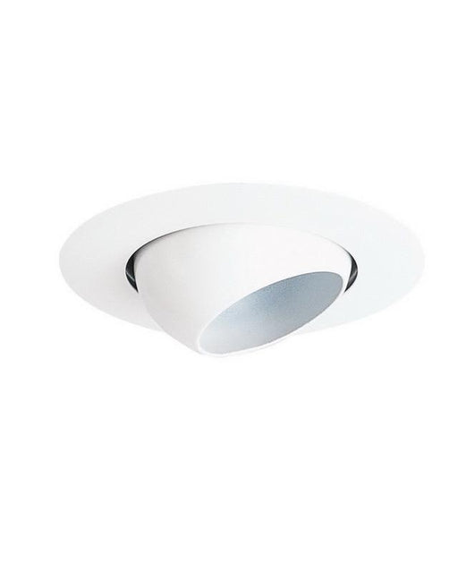 "Premier PEP-4-WH-EYE White 4"" Line Voltage Eyeball Recessed Trim - Quality Discount Lighting"