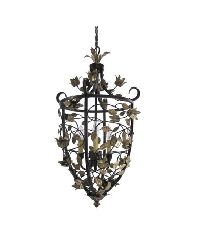 Trans Globe Lighting 7383 Three Light Hanging Pendant Chandelier in Bronze Finish