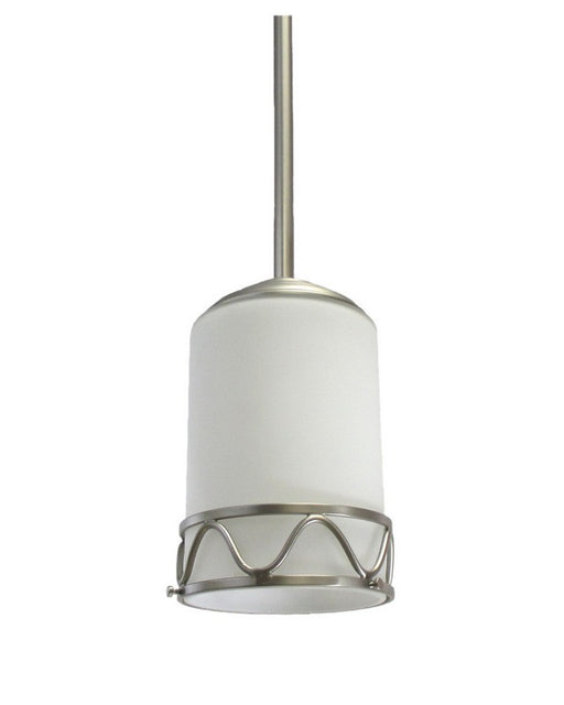 Epiphany Lighting 100640 BN One Light Mini Pendant in Brushed Nickel Finish - Quality Discount Lighting
