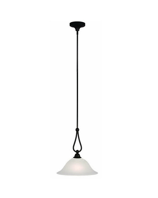 Z-Lite Lighting 317P-14 One Light Hanging Pendant in Bronze Finish - Quality Discount Lighting