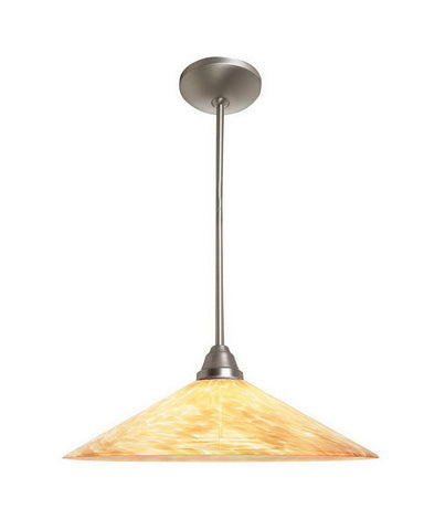 Access Lighting 28515 BS-COG One Light Energy Efficient GU24 Fluorescent Pendant in Brushed Steel Finish - Quality Discount Lighting
