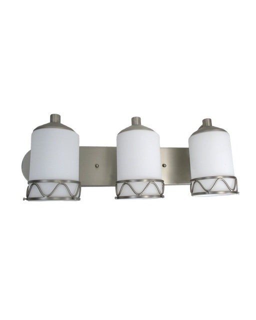 Epiphany Lighting 103264 BN Three Light Contemporay Bath Wall Fixture in Brushed Nickel Finish - Quality Discount Lighting