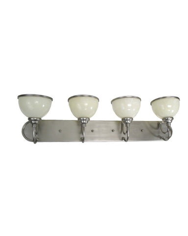 Triarch Lighting 25784 BS Four Light Bath Vanity Wall Mount in Brushed Steel Finish - Quality Discount Lighting