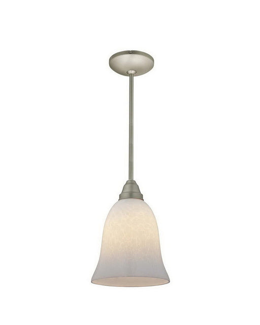 Access Lighting 28514 BS-OPL One Light Energy Efficient GU24 Fluorescent Pendant in Brushed Steel Finish - Quality Discount Lighting
