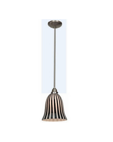Access Lighting 28514 BS-BLWH One Light Energy Efficient GU24 Fluorescent Pendant in Brushed Steel Finish - Quality Discount Lighting