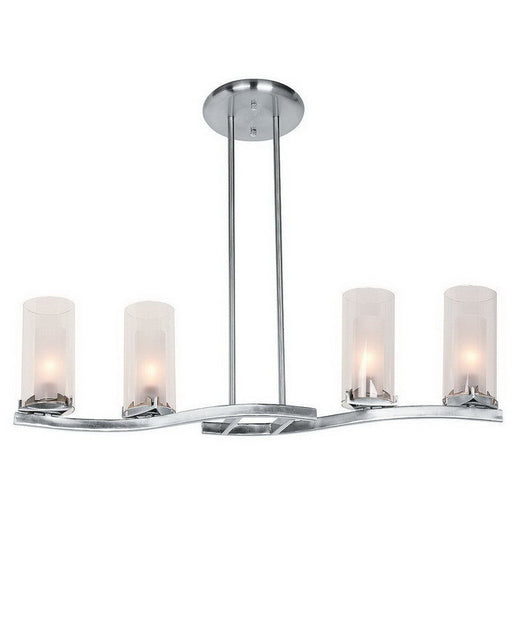 Access Lighting 50506 BSFRC Four Light Pendant Chandelier in Brushed Steel Finish - Quality Discount Lighting