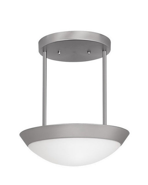 Access Lighting 20639 BSOPL Three Light Semi Flush or Hanging Pendant Chandelier in Brushed Steel Finish - Quality Discount Lighting