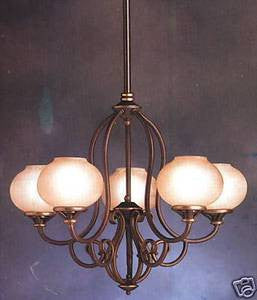 Kichler Lighting 1688 OLZ Five Light Peterborough Chandelier in Oiled Bronze Finish - Quality Discount Lighting