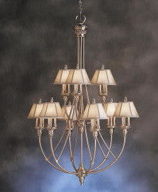 Kichler Lighting 1890 AP Alexandria Collectin Twenty Seven Light Hanging Chandelier in Antique Pewter Finish - Quality Discount Lighting