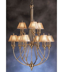 Kichler Lighting 1890 BAB Alexandria Collection Twenty Seven Light Hanging Chandelier in Burnished Antique Brass Finish - Quality Discount Lighting
