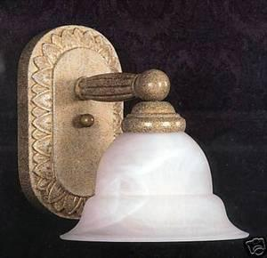 Quoizel SQ8661GC One Light Wall Sconce in Gold Coast Finish - Quality Discount Lighting