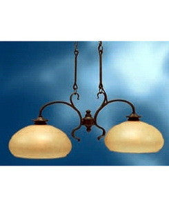 Kichler Lighting 3819 OZ Two Light Colton Hall Collection Hanging Island Chandelier in Olde Bronze Finish - Quality Discount Lighting