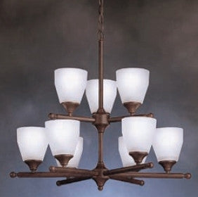 Kichler Lighting 1749 TZ Ansonia Collection Nine Light Hanging Chandelier in Tannery Bronze Finish - Quality Discount Lighting