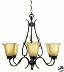 Quoizel Lighting QX543CU Six Light Hanging Chandelier in Copper Bronze Finish - Quality Discount Lighting