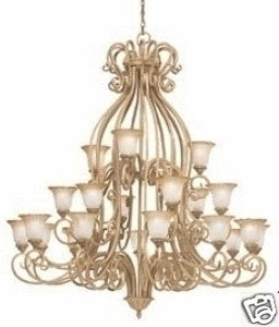 Kichler Lighting 1882 GBR Edenvale Collection Twenty One Light Three Tier Chandelier in Brulee Finish - Quality Discount Lighting