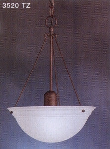 Kichler Lighting 3520TZ Dover Collection One Light Hanging Pendant in Tannery Bronze Finish - Quality Discount Lighting