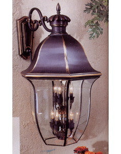 Minka Lavery Lighting 8545-55 Nine Light Exterior Outdoor Wall Lantern in Florentine Bronze Finish - Quality Discount Lighting