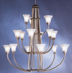 Kichler Lighting 1668 AP Polygon Collection Fifteen Light Hanging Chandelier in Antique Pewter Finish - Quality Discount Lighting