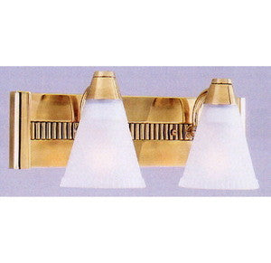 Quoizel LN8722H Two Light Bath Vanity Wall Mount in Burnished Brass Finish - Quality Discount Lighting