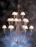 Kichler Lighting 1891 BAB Alexandria Collection Forty Five Light Hanging Chandelier in Burnished Antique Brass Finish - Quality Discount Lighting