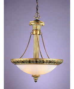 Trans Globe Lighting 8332 Thee Light Hanging Pendant in Antique Gold Finish - Quality Discount Lighting