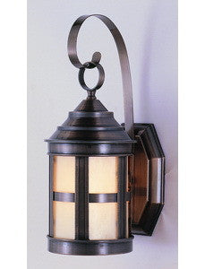 Trans Globe Lighting 4780BZ One Light Exterior Outdoor Wall Mount Lantern in Bronze Finish