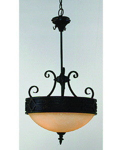 Trans Globe Lighting 3764 BK Three Light Hanging Pendant Chandelier in Black Finish - Quality Discount Lighting