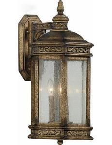 Quoizel Lighting VH8412DS Three Light Vanderhorst Collection Exterior Outdoor Wall Lantern in Dark Silver Finish - Quality Discount Lighting