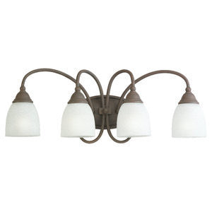 Sea Gull Lighting 44107-08 San Remo Collection Four Light Bath Vanity Fixture in Textured Rust Patina Finish - Quality Discount Lighting