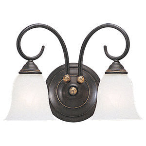 Sea Gull Lighting 4003-85 Athenia Two Light Bath Sconce in Gold Patina Finish - Quality Discount Lighting