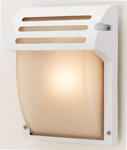 Access Lighting 20304 WH/FST Outdoor Poseidon 1 Light Bulkhead Wall Mount Fixture