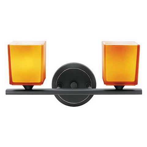 Access Lighting 64002 ORB AMB Two Light Bath Vanity Wall Mount in Oil Rubbed Bronze Finish - Quality Discount Lighting